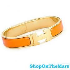 bracelet hermes price images Hermes gold plated clic clac h narrow bracelet orange enamel jpg