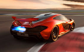 red orange cars picture mclaren p1 luxury orange auto back view