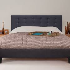 kensington queen size fabric bed frame in charcoal buy queen bed
