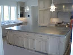 kitchen island counters zinc countertops brooks custom