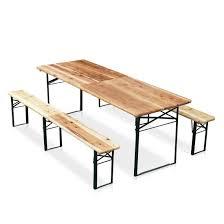 tavola pieghevole tavolo e panche in abete per feste all aperto idfdesign