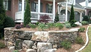 Front Yard Retaining Walls Landscaping Ideas - front yard stone landscaping corinthian granite double dry stacked