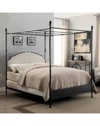 Metal Canopy Bed Great Deal On Furniture Of America Karis Arched Upholstered Metal