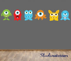 Fabric Wall Decals For Nursery Reusable Monsters Wall Decal Childrens Fabric Wall Decal