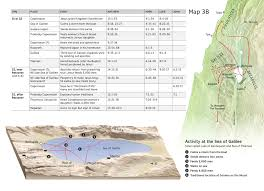 jesus at the sea of galilee and capernaum chart and map nwt