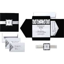 blank wedding invitation kits black white scroll square pocket printable wedding invitations