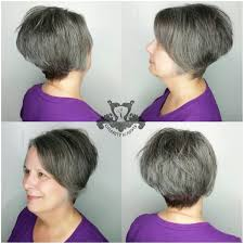 stacked wedge haircut pictures stacked wedge haircut natural salt pepper tones