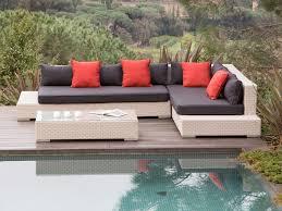 canapé jardin salon de jardin 6 places canapé d angle table basse en r