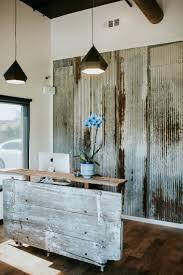 Reclaimed Wood Reception Desk Desk View In Gallery Ampersand Art Installation Reception Desk