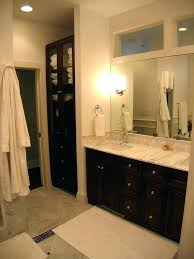 double sink vanity with middle tower double vanity with linen cabinet vanity with storage tower linen