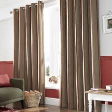 wilde downton lined eyelet curtains rouge