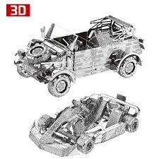 vw kubelwagen kit 2pcs 3d metal nano puzzle vw82 kubelwagen kart car vehicle