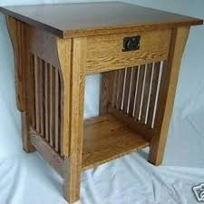 hand crafted new mission style solid oak wood bedside bedroom