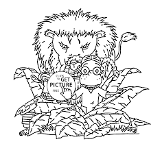 darwin and lion coloring pages for kids printable free the wild