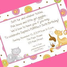 5th birthday party invitation cat birthday party invitations awesome picture design images