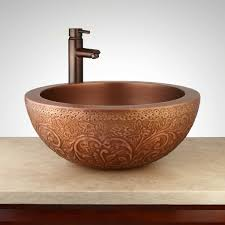 bathroom sink corner bathroom vanity hammered copper bathroom