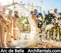 wedding chuppah rental arc de wedding arch and canopy rental