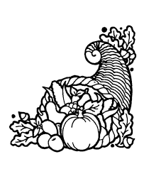 thanksgiving day coloring page sheets cornucopia 3 horn of