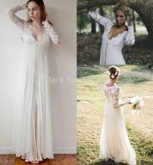 hippie boho wedding dresses discount simple bohemian wedding dress lace sleeves