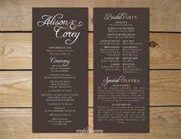 wedding program layout simple wedding program layout