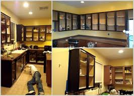 How To Stain Kitchen Cabinets by How To Refinish Kitchen Cabinets Makeover U0026 Tutorial A Mom U0027s Take