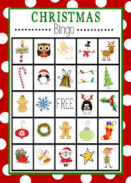 free printable christmas bingo game christmas bingo cards