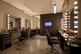 i like mirrors with side lights for makeup area salon