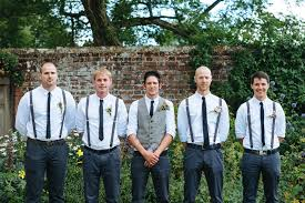 groomsmen attire and groomsmen in navy and suspenders for casual outdoor i dos