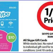 half price gift cards half price skype gift cards at coles starts 2 7 ozbargain