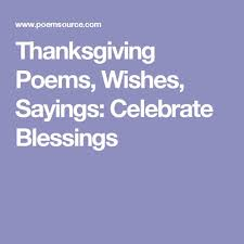 thanksgiving poems wishes sayings celebrate blessings