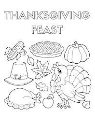 coloring page of thanksgiving dinner coloring pages ideas