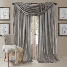 How To Hang A Drapery Scarf by Semi Opaque Sterling Rod Pocket 2 Window Curtain Panel 52 In W