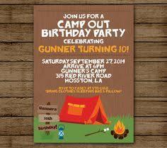 campfire smore marshmallow birthday party invitations printable