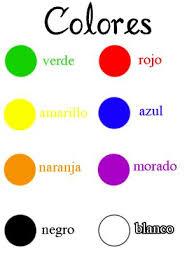 spanish colors google search deja project pinterest