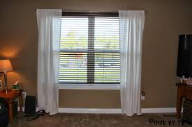 home by ten ikea hack lenda tab top curtain makeover