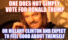 I Feel Good Meme - one does not simply vote for donald trump or hillary clinton and
