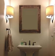 Wood Mirrors Bathroom Wooden Bathroom Mirror Home Improvement Ideas