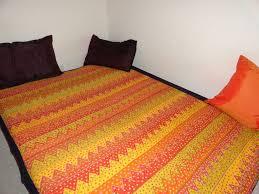 cotton indian bedspread handwoven daybed or divan cover floor