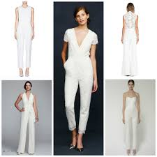 white wedding jumpsuit bridal jumpsuits and pantsuits aisle