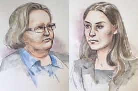 composite court sketch of jemma lilley and trudi lenon abc news