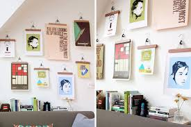 how to hang canvas art without frame save a wall hang a poster 20 ideas for alternative art display how