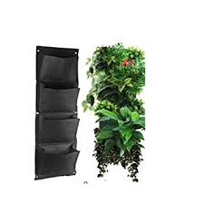amazon com glovion vertical wall mounted polyester wall planting
