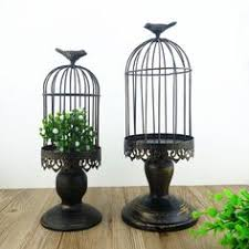 Decorative Bird Cages Wholesale Handmade Metal Candleholder Vintage Home Decorative Table Floor
