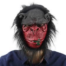 halloween mask shop gorilla head mask creepy animal halloween costume theater prop
