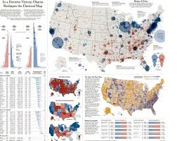 in a decisive victory obama reshapes the electoral map visual in a decisive victory obama reshapes the electoral map infographic