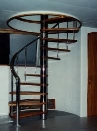 Floor Plans With Spiral Staircase Sleek Black Metal Spiral Staircase Mixed Glossy Brown Wooden