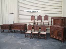 dining room buffet server 51421 antique oak refactory dining room set china table buffet