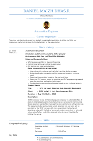 automation engineer resume samples visualcv resume samples database