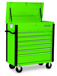snap on tool storage cabinets 6 drawer roll cart extreme green