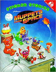 buy muppets space sticker storybook book
